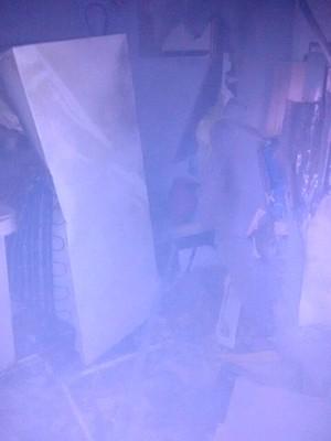 Bandidos tentaram abrir o cofre da agência (Foto: Brigada Militar/Divulgação)