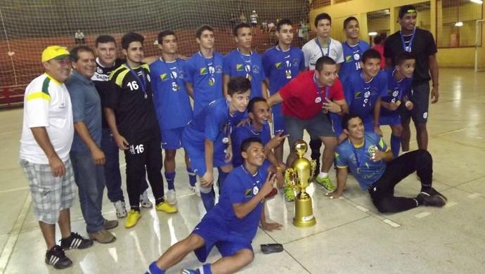 Campo Grande, campeão do Acreano de Futsal Sub-17 (Foto: Divulgação/Fafs)