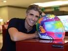 Reynaldo Gianecchini vai à exposição em homenagem a Ayrton Senna