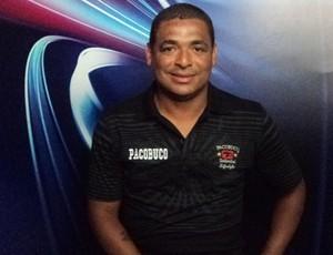 Vampeta, volante ex-Corinthians e Flamengo, participa do Arena SporTV (Foto: Gabriel Benamor/SporTV.com)