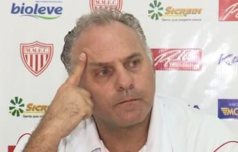 """Toninho Cecílio cobra mais do Mogi após derrotas: """"Reação é para ontem"""""""