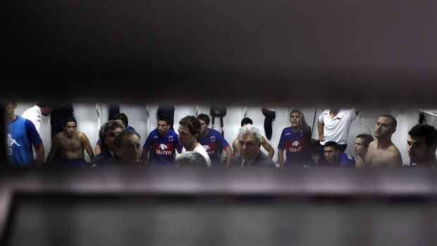 Vestiário do Tigre (Foto: Miguel Schincariol / Agência Estado)