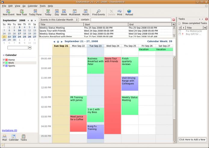 O lightning permite visualizar a agenda e integrar com o Google Calendar. (Foto: Divulgação / Lightning)