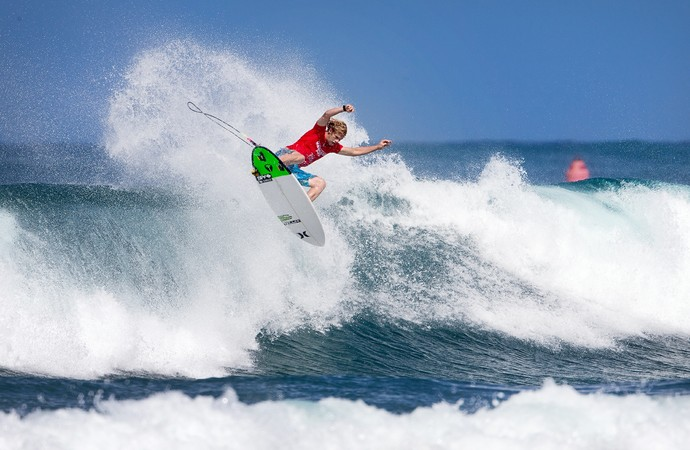 John John Florence no terceiro round do Haleiwa Pro, no Havaí (Foto: WSL)