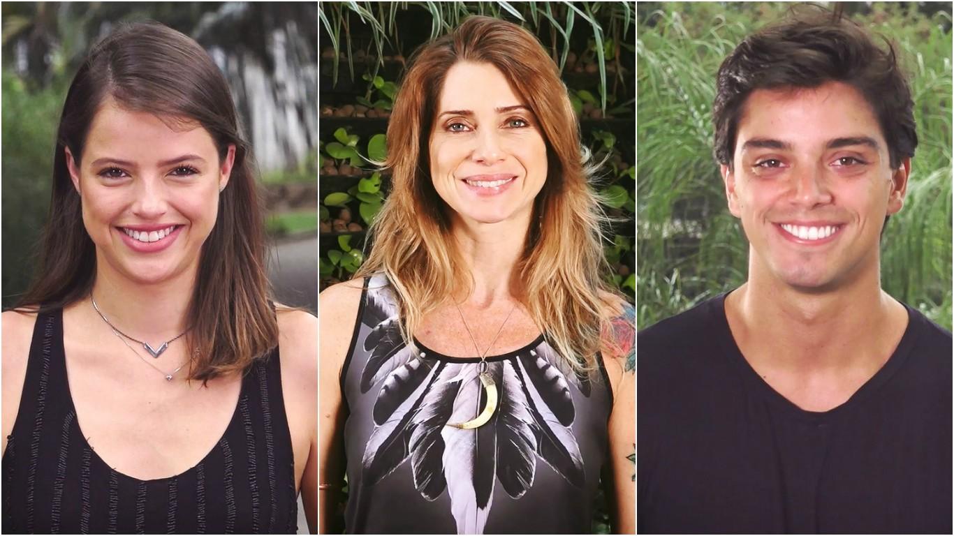 Agatha Moreira, Letícia Spiller e Rodrigo Simas (Foto: Reprodução/TV Tribuna)