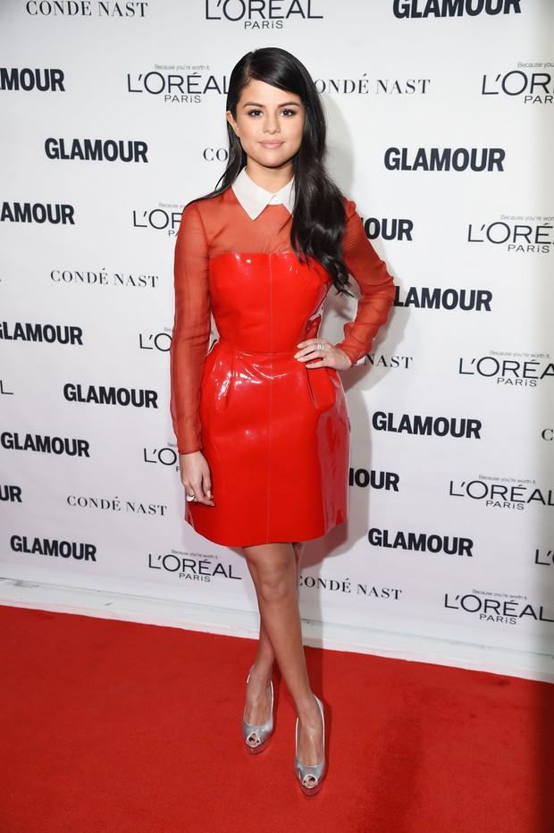 Selena Gomez em premiação em Nova York, nos Estados Unidos (Foto: Dimitrios Kambouris/ Getty Images/ AFP)