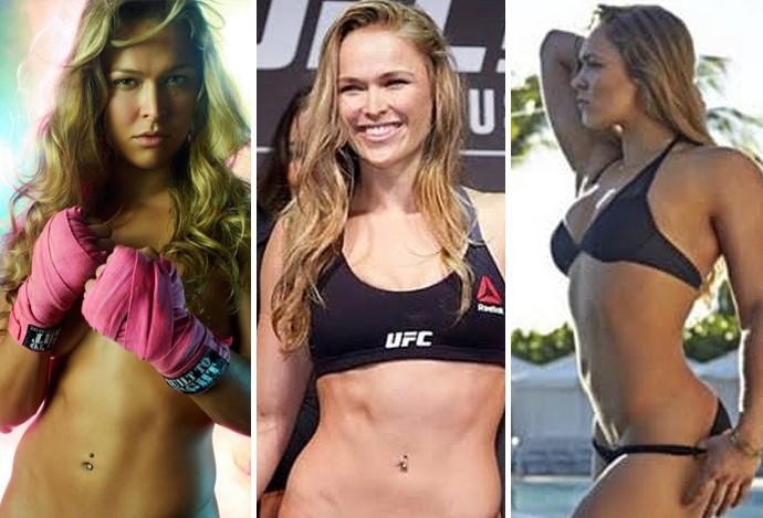 Montagem gatas UFC Ronda Rousey (Foto: Editoria de arte)
