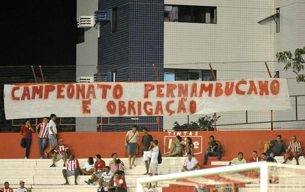 Náutico x Crac torcida do Náutico (Foto: Aldo Carneiro/Pernambuco Press)