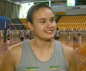 Beatriz, levantadora de Araraquara (Foto: Rodrigo Sargaço/EPTV)