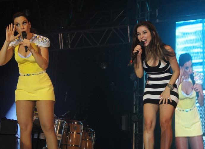 Liah Soares e Ivete Sangalo cantam juntas em Belém (Foto: Divulgação)