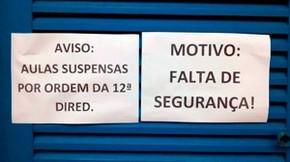 Por falta de segurança, diretora da escola achou melhor suspender as aulas nesta terça-feira (Foto: Thiago Roberto/G1)