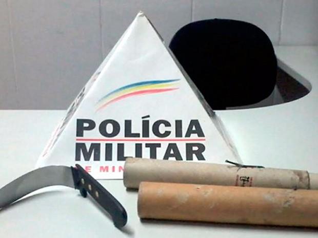 Mulher de 20 anos foi esfaqueada por ex-namorado nesta segunda-feira (16) em Poços de Caldas, MG (Foto: Polícia Militar)