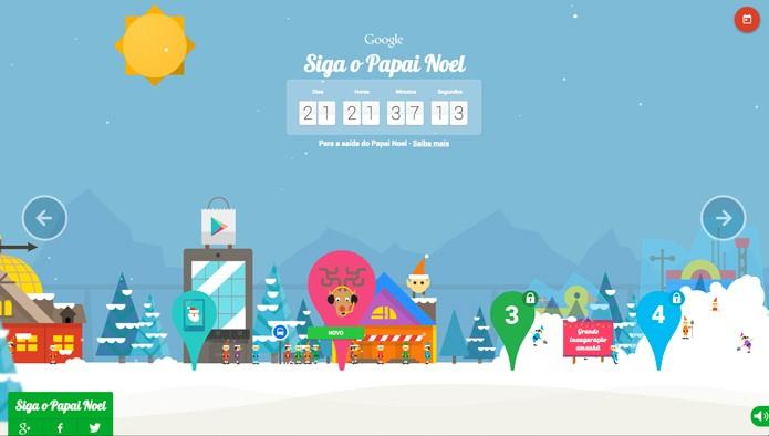 Siga o Papai Noel com o Google (Foto: Reprodução/André Sugai)