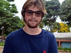 Felipe Custódio tenta vaga no curso de engenharia da computação (Foto: Luana Marques/G1)