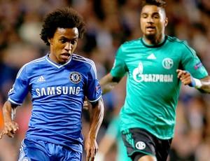 Willian jogo Chelsea Liga dos Campeões (Foto: Getty Images)