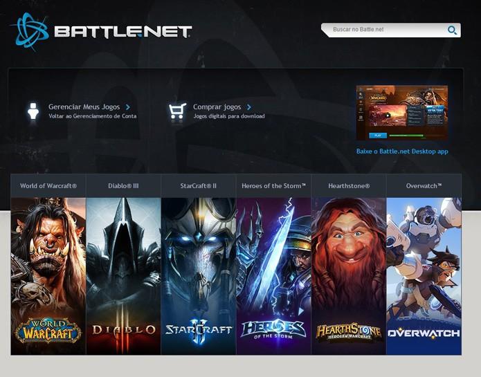 Página da Battle.net (Foto: Reprodução/André Mello)