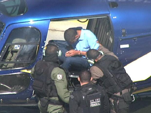 Nem chega de helicóptero ao TJ-RJ (Foto: Reprodução/TV Globo)