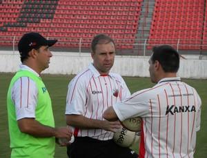 comissão técnica Ituano - Marcelo Martellote - Júnior - Doriva (Foto: Divulgação/ Ituano)