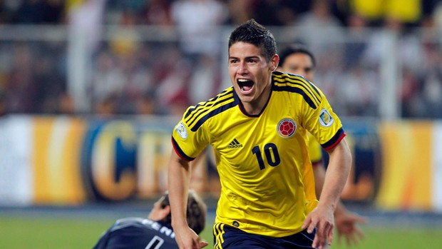 james rodriguez colombia x peru (Foto: Reuters)