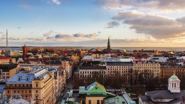Aerial view of Helsinki, capital of Finland (Foto: Getty Images/iStockphoto)