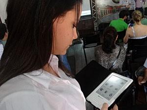 Leitor digital desenvolvido em Pernambuco (Foto: Katherine Coutinho / G1)