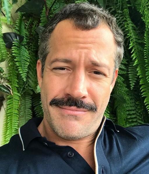 Malvino: bigode para interpretar o Coronel Brandão na novela Orgulho e paixão (Foto: Reprodução/ Instagram)