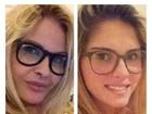 Monique Evans posa imitando a filha e posta foto