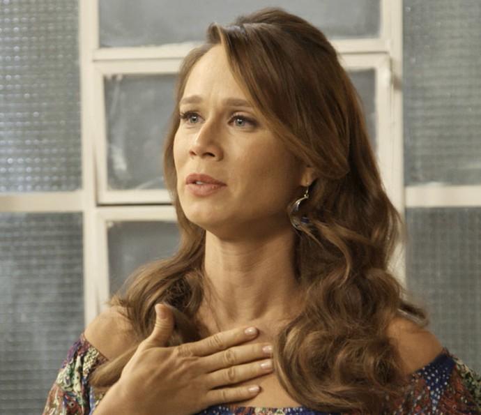 'Falei do meu pai e senti uma coisa aqui dentro', diz Tancinha, durante conversa com Guido (Foto: TV Globo)