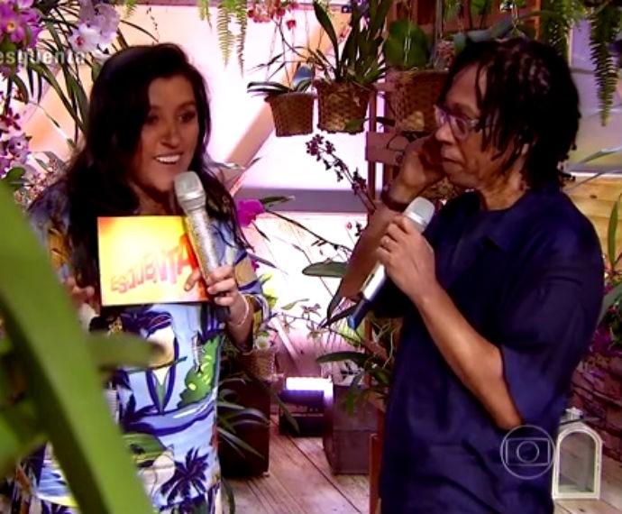 Músico mostra paixão por orquídeas  (Foto: Reprodução/ Rede Globo)