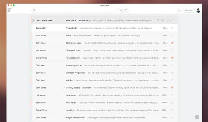 CloudMagic apresenta simplicidade e agilidade para facilitar a vida de quem precisa ler uma grande quantidade de e-mails por dia (Foto: Divulgação/CloudMagic)