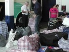 Receita Federal apreende ônibus de linha carregado com contrabando