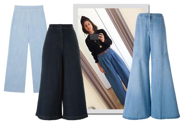 Leandra Medine e jeans, EVA, R$ 299; Fendi, R$ 4.030; Fendi, R$ 1.910 (Foto: Instagram/Reprodução, Oqvestir Farfetch/Divulgação)