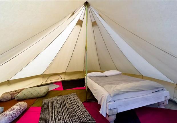 Tenda na Ligúria, Itália (Foto: Reprodução/Airbnb)