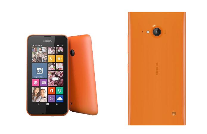 Lumia 730 e 530 ganham versão em laranja no Brasil (Foto: Divulgação)
