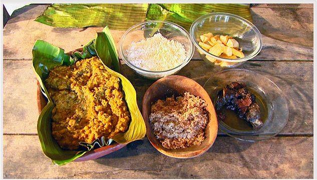Valdomiro da Silva Filho ensina receita de matula, prato típico dos tropeiros (Foto: Reprodução EPTV)