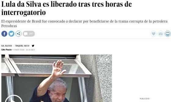 Para o jornal espanhol El País, as ações desta sexta-feira são um golpe duríssimo contra o ex-presidente  (Foto: Reprodução)