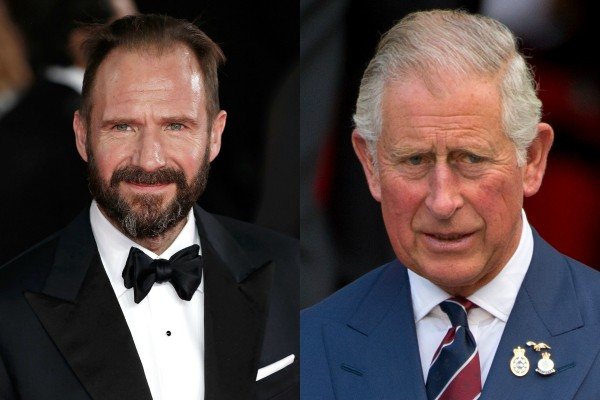 Ralph Fiennes e príncipe Charles (Foto: Getty Images)