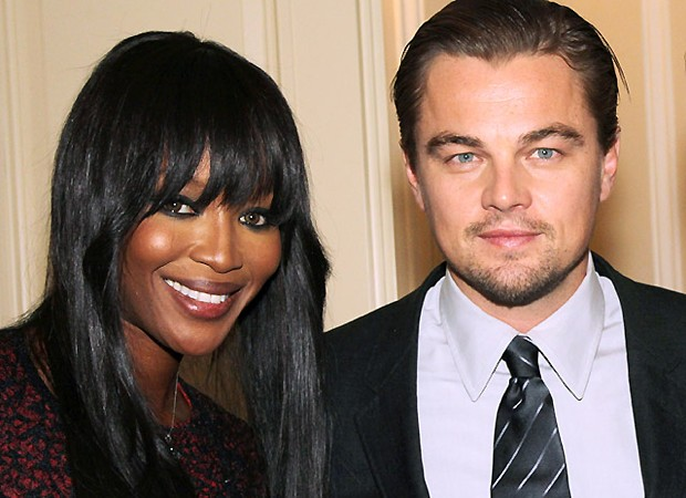 Naomi Campbell e Leonardo DiCaprio (Foto: Reprodução)