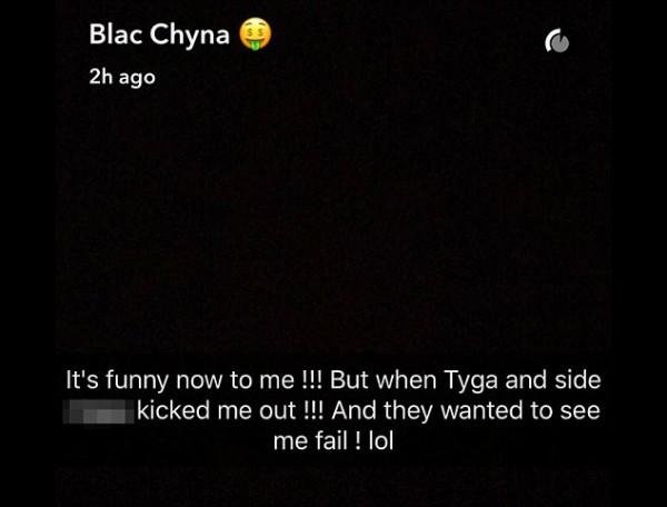 Mensagens de Blac Chyna (Foto: Reprodução Snapchat)