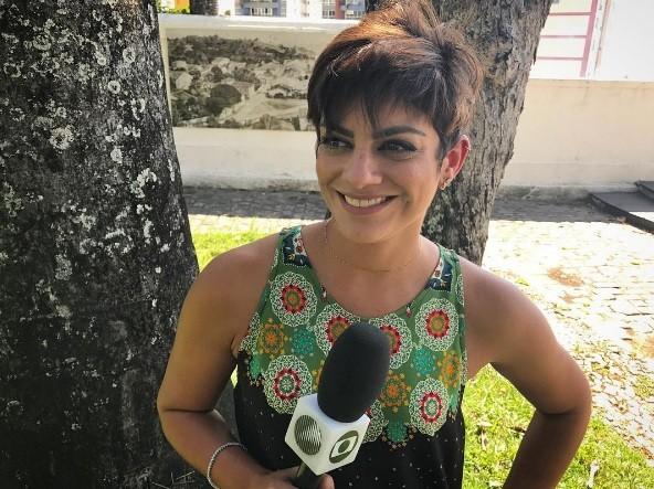 Patricía Abreu apresentará o Globo Esporte na varanda da Casa do Sol (Foto: Arquivo pessoal)