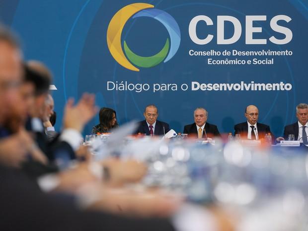 Michel Temer reuniu pela primeira vez em seu governo o 'Conselhão' (Foto: Beto Barata/Presidência)