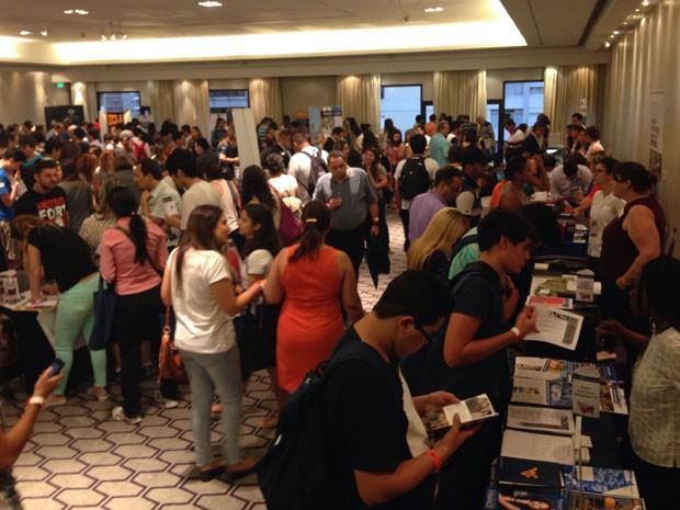 EducationUSA trouxe 86 universidades americanas a São Paulo (Foto: Ana Carolina Moreno/G1)