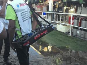 Procon-RJ multa Cidade do Rock por vazamento de esgoto em lanchonete  (Foto: Divulgação/ Procon-RJ)