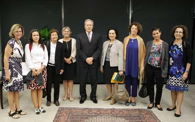 Grupo a favor da liberação do aborto se reúne com ministro do STF, Ricardo Lewandoswski (Foto: Fellipe Sampaio / SCO / STF )