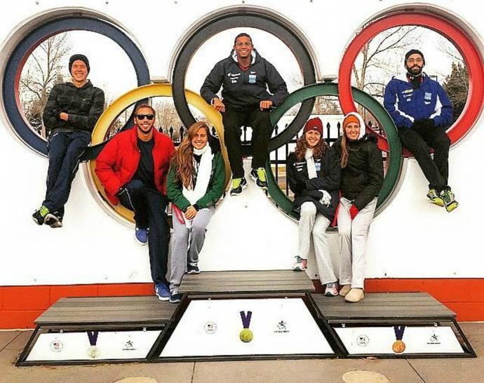 Nadadores brasileiros fazem treinamento de altitude nos Estados Unidos (Foto: Allan do Carmo/Arquivo pessoal)