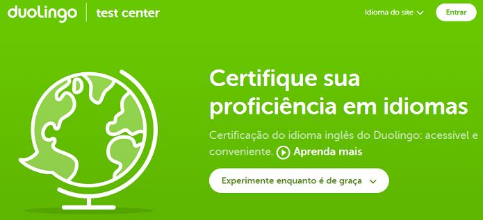 Test Center está com avaliação gratuita (Foto: Reprodução/Duolingo)