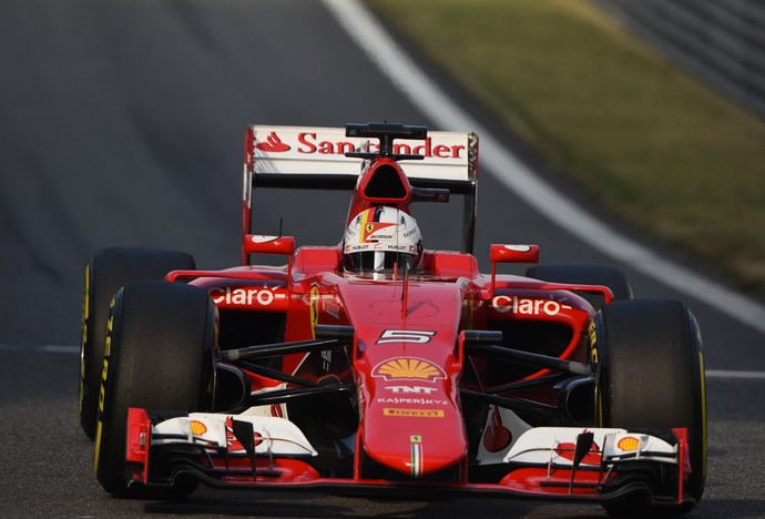 Sebastian Vettel no treino classificatório para o GP da China - Fórmula 1 (Foto: AFP)