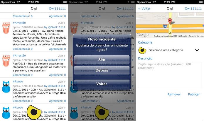 Informe, informe-se e ajude a evitar crimes com o OWL (Foto: Divulgação/AppStore)