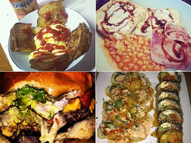Fotos selecionadas como algumas das piores imagens de comida no Instagram (Foto: Reprodução)