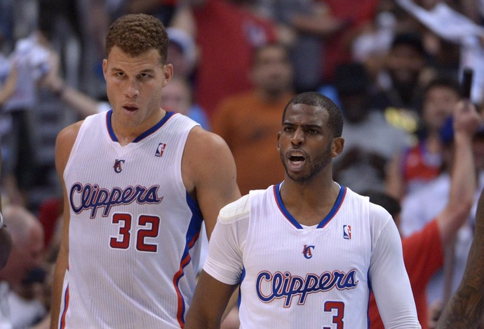 Basquete NBA - Blake Griffin, Chris Paul, Jamal Crawford e Kevin Durant, Oklahoma City Thunder x Los Angeles Clippers (Foto: Reuters)